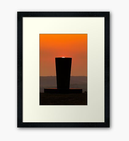 Sunset at the Millennium Monument Framed Print