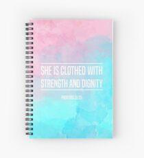 Cuaderno de espiral Cita cristiana