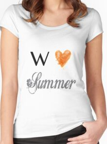 We love Summer Women's Fitted Scoop T-Shirt