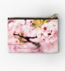 When Nature Resumes Her Loveliness Sakura Studio Pouch