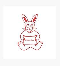 I m so Cute Bunny Photographic Print
