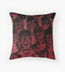 Old Monsters Throw Pillow