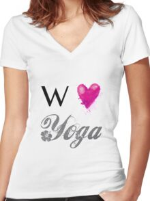 We love Yoga Women's Fitted V-Neck T-Shirt