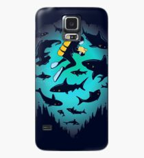 Screwed | Funny Shark and Diver Illustration Case/Skin for Samsung Galaxy
