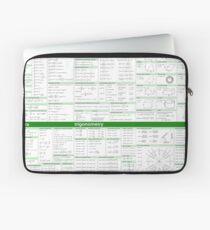 Math Formula Sheet - Green Laptop Sleeve