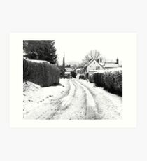 Old Road in the Snow Art Print