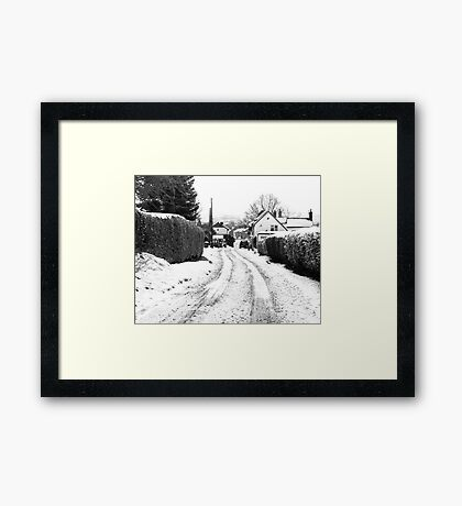 Old Road in the Snow Framed Print