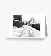 Old Road in the Snow Greeting Card