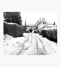 Old Road in the Snow Photographic Print