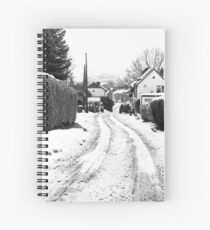 Old Road in the Snow Spiral Notebook