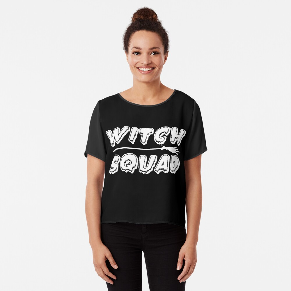 Witch Squad (white) Chiffon Top