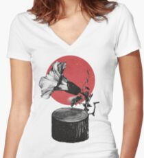 Gramophone Women's Fitted V-Neck T-Shirt