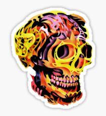 Skull V Sticker