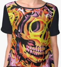 Skull V Women's Chiffon Top