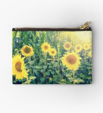 sunflowers at the cornfield Studio Pouch