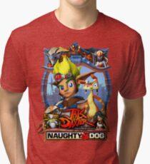 Jak & Daxter - Promo Poster Tri-blend T-Shirt