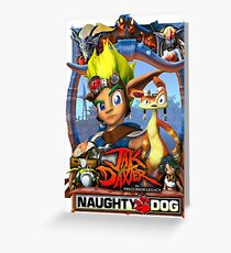 Jak & Daxter - Promo Poster Greeting Card