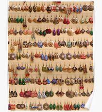 Many little ear rings - spoilt for choice! Poster