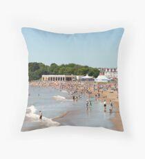 Barry Island Beach Throw Pillow