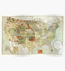 United States - Indian reservations - 1892 Poster