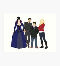 Swanfire Queen Family Art Print