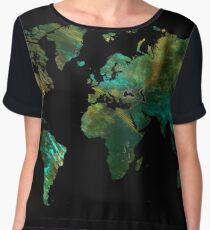 world map Chiffon Top