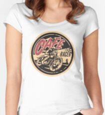 The Official Cafe Racer TV Logo Women's Fitted Scoop T-Shirt