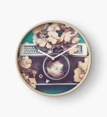 Camera & Hydrangea Clock