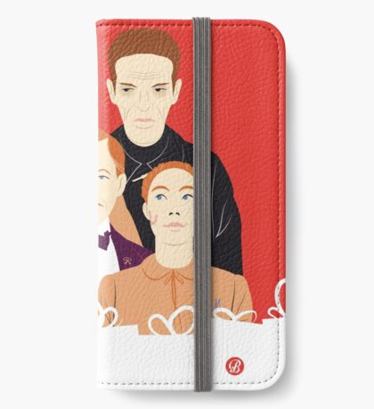 Many People In This Hotel (Faces & Movies) iPhone Wallet