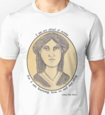 Louisa May Alcott - Antiqued Portrait Unisex T-Shirt