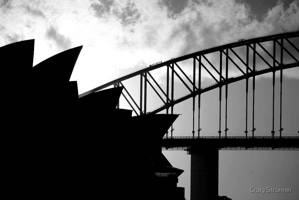 flat,1000x1000,075,f - Download Black And White Photo Of Sydney Opera House  Pictures
