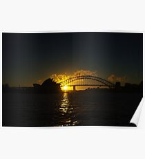 Sydney Opera House and Harbour Bridge at Dusk Poster
