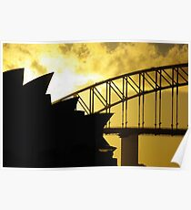 Sydney Opera House and Harbour Bridge-Alternate 2 Poster