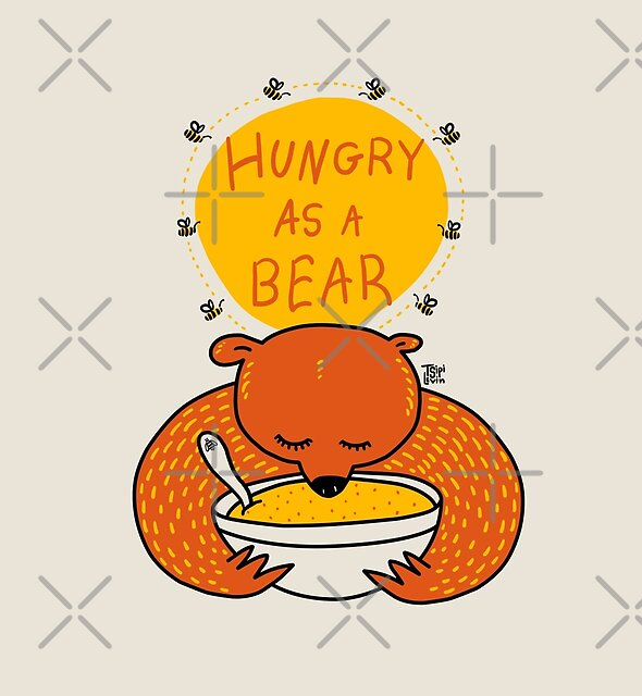 Hungry As A Bear (colored) by TsipiLevin