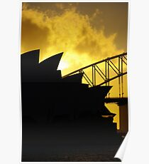 Sydney Opera House and Harbour Bridge-Alternate 1 Poster