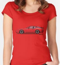 India Red 1986 P 944 951 Turbo (US spec) Women's Fitted Scoop T-Shirt