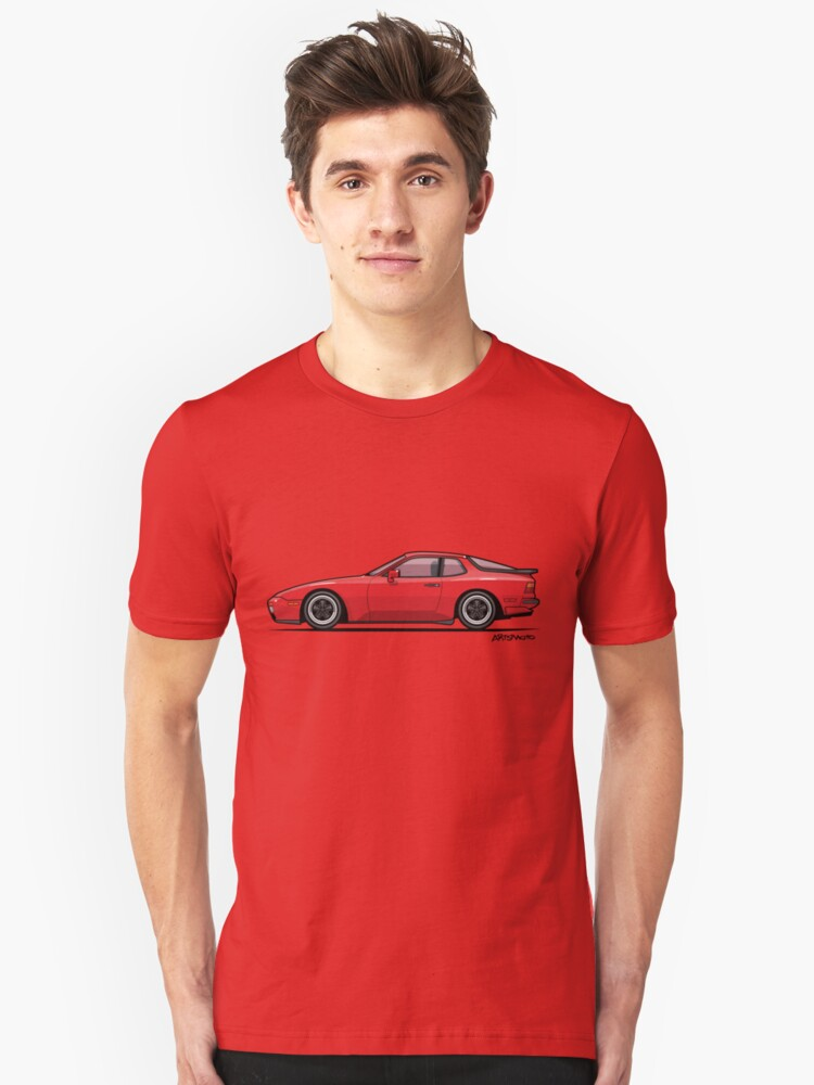 India Red 1986 P 944 951 Turbo (US spec) Unisex T-Shirt Front