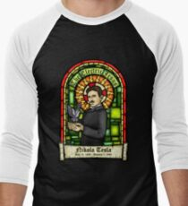 Tesla: The Electric Jesus Men's Baseball ¾ T-Shirt