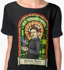 Tesla: The Electric Jesus Chiffon Top