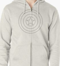 Spangle Your Stars Minimalist Ring Design Zipped Hoodie