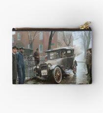 Auto Wreck in Washington DC, 1921. Colorized Studio Pouch