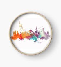 NYC New York City skyline Clock
