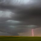 Shelf Cloud & Lightning by Cathy L. Gregg