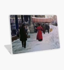 Woman in red Laptop Skin