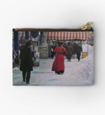 Woman in red Studio Pouch