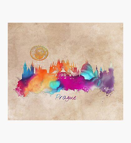 Prague colored skyline Photographic Print