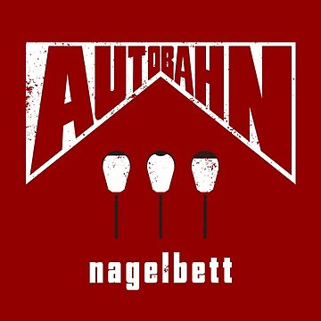 Autobahn – Nagelbett (aged look) by KRDesign