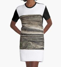 waves of wood Graphic T-Shirt Dress