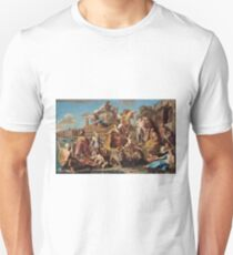 Pompeo Girolamo Batoni - The Triumph Of Venice 1737. People portrait: party, woman and man, Venice, family, female and male, peasants, crowd, romance, women and men, city, home society T-Shirt