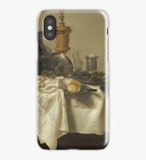 Willem Claesz Heda - Banquet Piece With Mince Pie 1635 . Still life with fruits and vegetables: fruit, Lemon , glass of wine, tasty, gastronomy food, flowers, dish, cooking, kitchen, vase iPhone Case/Skin